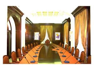 Picture of Boiserie meeting room, panelling in wood