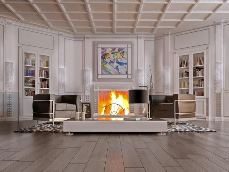 Boiserie Milano 2, Wooden wall panels Sitting room - IDFdesign