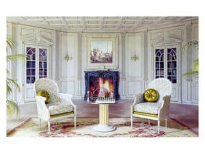 Picture of Boiserie Versailles living room, wooden wall panels