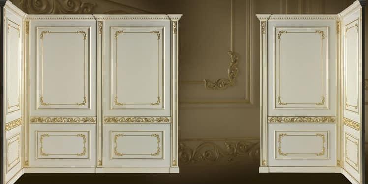 Boiserie Wien, Boiserie with gold finishings, luxury classic style