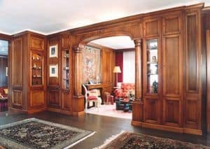 Picture of Boiserie with arch, classic style woodwork