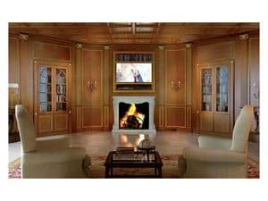 Picture of Boiseries Firenze living, wood panelling