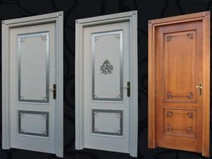 Picture of Door POR009 L Luxor, panelling in wood
