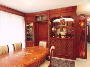 Picture of Kitchen Boiserie , wooden wall panel