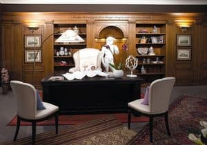 Picture of Office boiserie 2, classic style woodwork