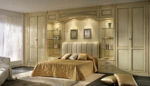 R 10, Wood paneling for bedroom, with bridge with lights