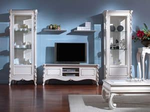 3505 DISPLAY CABINET, Classic 1-port display cabinet, in '800 style, lacquered finish