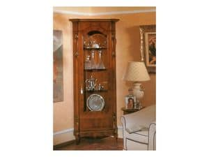 Picture of 96 NOCE / Corner cupboard with 1 door, hand decorated showcases