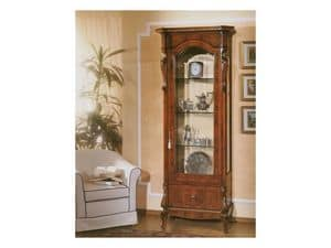 Picture of 96 NOCE / 1 door showcase, classic style display cabinets