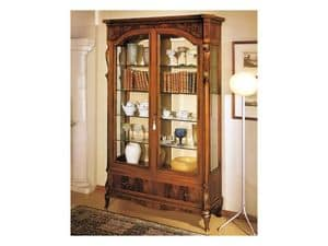 Picture of 96 NOCE / 2 Doors Showcase, luxury cabinet with open shelves