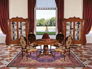 Art. 1161, Display cabinet with 2 doors for living rooms, classic style