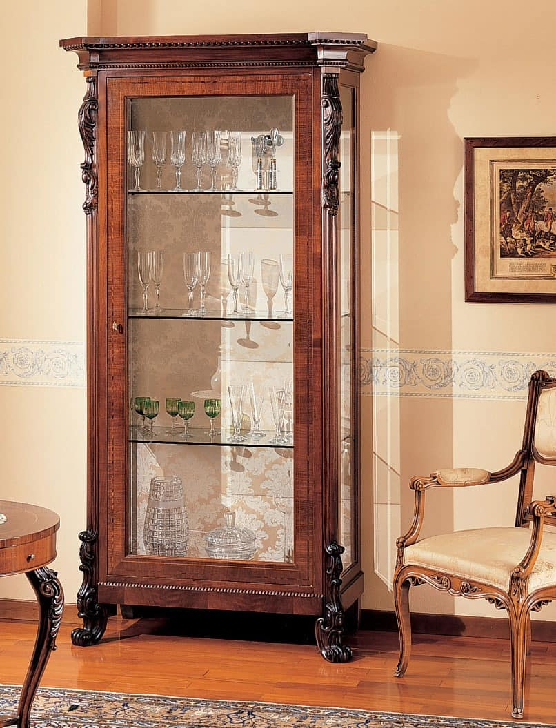 Art. 295, Hand decorated display cabinet, for jewellery shop