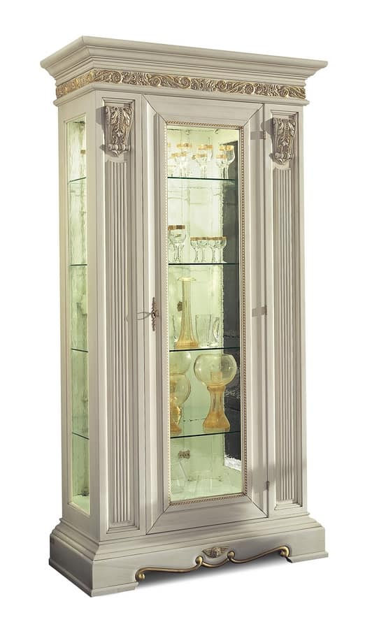 Luxury Showcase For Living Room Royal Art Deco: Art. 4043, Luxury Comparment Cabinet Living Room Furniture