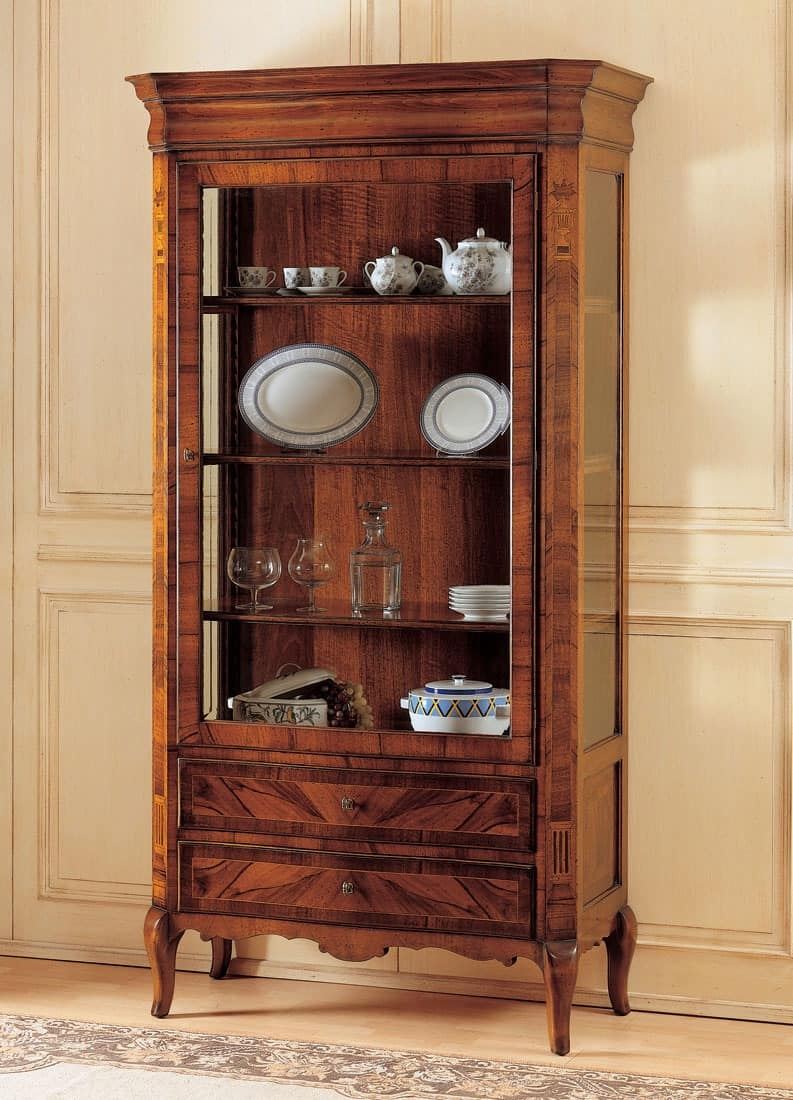 showcase in decorated wood   u0026 39 800 french style