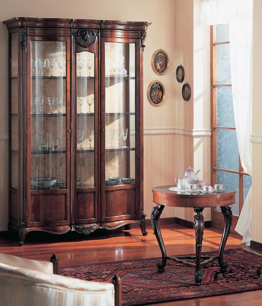 Dining Display Cabinets: Hand Decorated Display Cabinet, For Dining Room