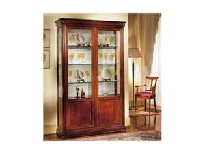 Picture of Classical 2 doors showcase Perla, showcase in decorated wood