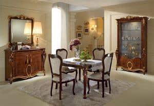 Donatello display cabinet with 2 doors, Elegante showcases, classic Italian design, for living room
