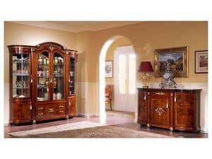 DUCALE DUCSO4PB / Display cabinet with 4 doors B, Classic style display cabinet, made of ash wood