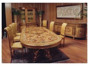 Picture of F604 Dining room, hand decorated showcases