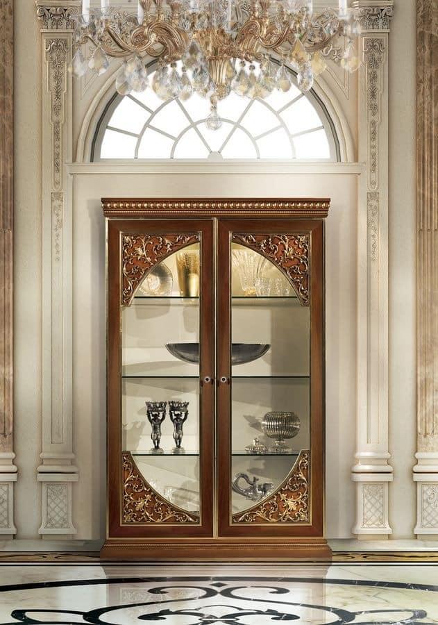 Hermitage MB/145 Display cabinet with 2 doors Classic luxury style & Display cabinet with 2 doors Classic luxury style | IDFdesign pezcame.com