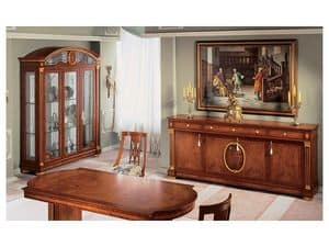 Picture of IMPERO / Display cabinet with 3 doors, hand worked display cabinet