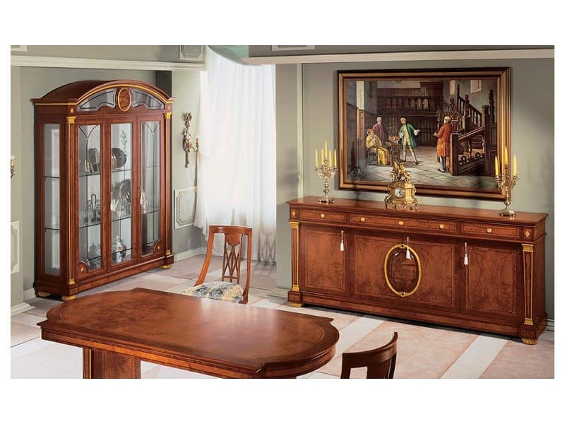 Display cabinet made of handcrafted ash wood idfdesign for Dining room display cabinets