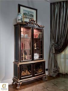 Olimpia, Hand-carved display cabinet for classic dining room