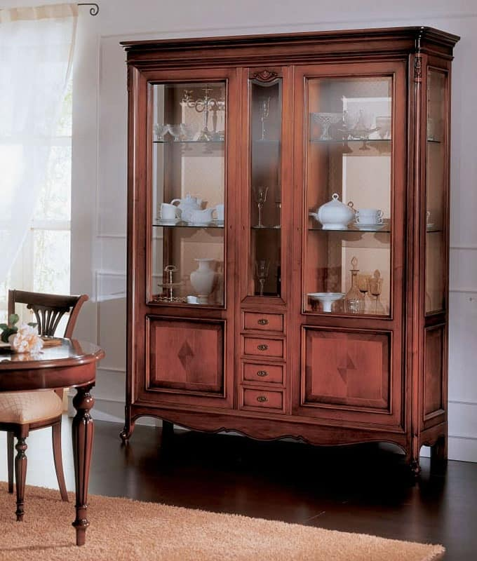 Display cabinet in classic luxury style, for living room | IDFdesign
