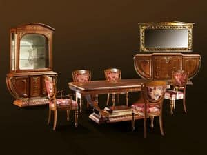 Picture of Paris Glass sideboard, showcase with wooden structure