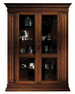 Portoferraio ME.0104.A, Showcase with 2 doors, glass shelves, in classic style
