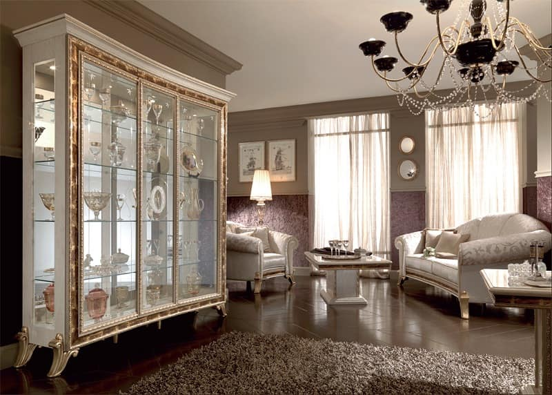 Showcase with classical style with elegant design for Showcase designs for dining room