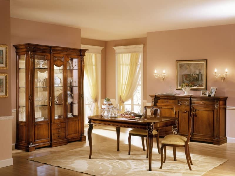 Classic Display Cabinet With Two Doors For Luxury Living