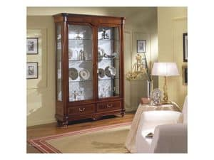 Picture of RIALTO / Showcase 2 doors, hand decorated display cabinet