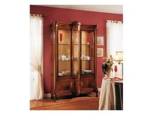 Picture of ROYAL NOCE / Showcase 2 doors with fixed central body, classic display cabinet