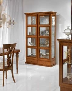 Picture of V478 Quadrotti, luxury cabinet with open shelves