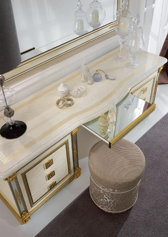 Dressing Table Embellished With Practical Pull Out Shelf