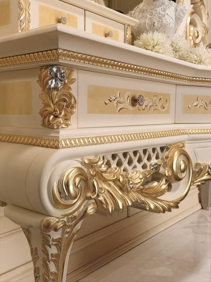 Dressing Table With Drawers Carved Wood For Bedrooms IDFdesign