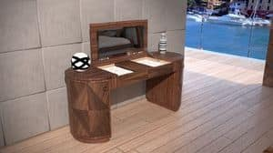 Picture of Toilette Contemporary, small-table-with-mirror