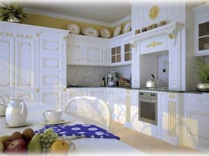 Picture of Boiserie kitchen Versailles, wooden wall panel