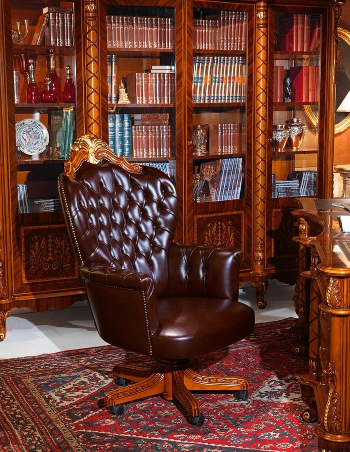Art 635 Presidential Armchair For Luxurious Offices Quilted Padding