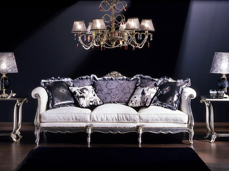 3 seater sofa, Louis XV style, to classics living rooms ...