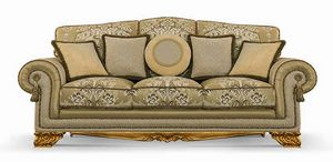 4642/L3, Three seats sofa for classical sitting rooms