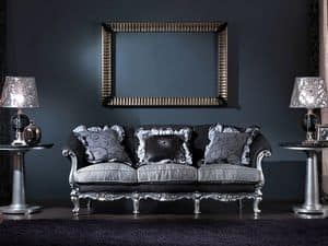 715 SOFA, 3 seater sofa, hand-carved, luxury classic style
