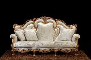 Alba sofa fabric, Baroque sofa, with handmade carvings