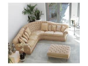 Angular Glicine, Buttoned sofa in luxury classic style