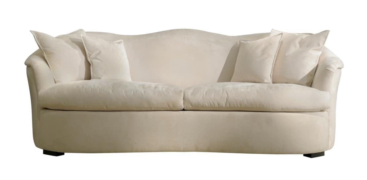 Overstuffed Sofa With Pillows, In Classic Contemporary
