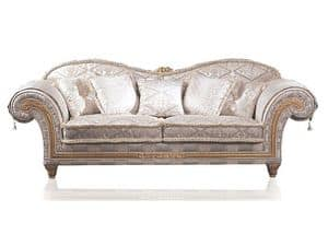 Art. EX 33 Excelsior, Luxury sofa with classic style, baroque decorations