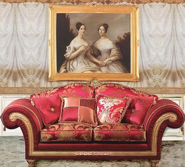 Art. IM 22 Imperial, Luxury classic sofa, upholstered with precious removable fabrics