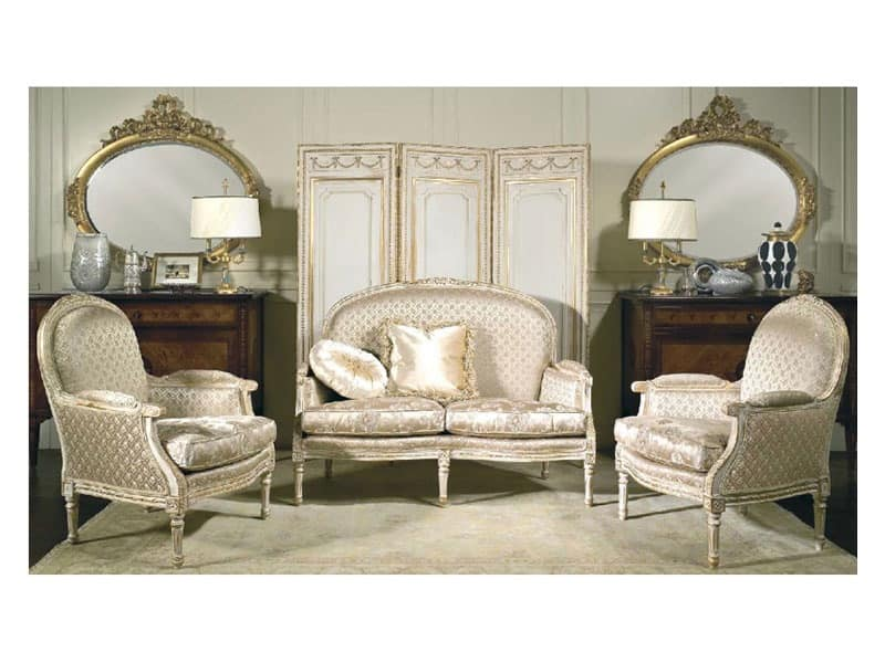 Art. RI 82 Rialto, Luxury classic sofa, a reproduction of the XVIII century
