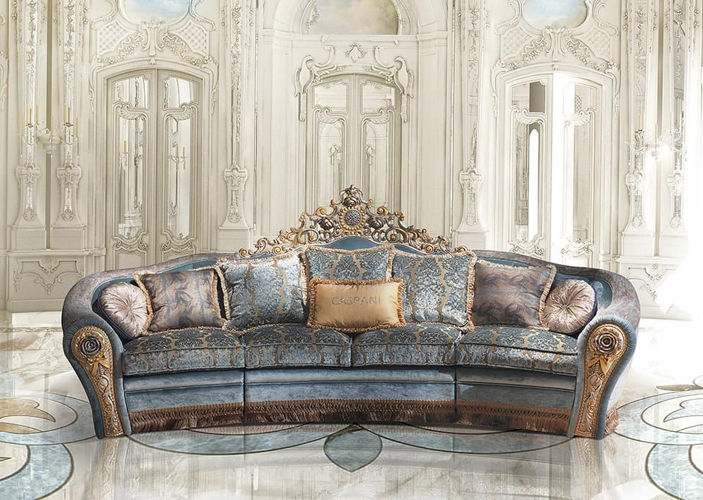 Sofa in classic luxury style idfdesign for Classic style sofa